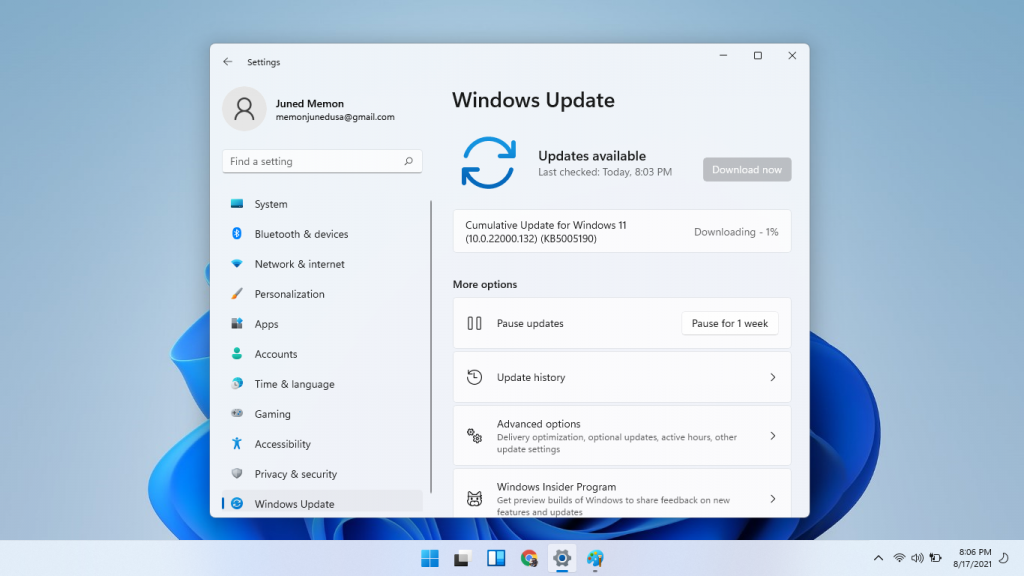 windows 11 22000.132 kb5005190