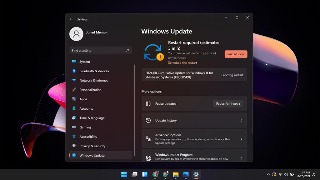 windows 11 KB5005191 22000.168