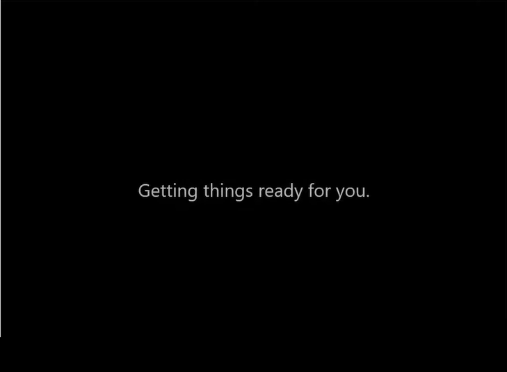 windows 11 gettings things ready for you