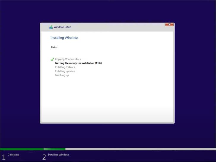 windows 11 setup installaing