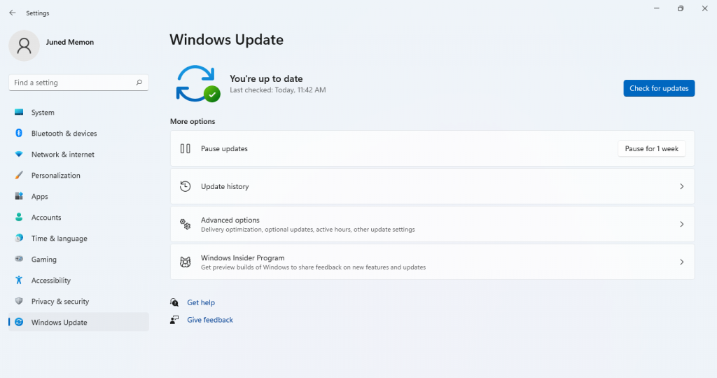 windows 11 update settings