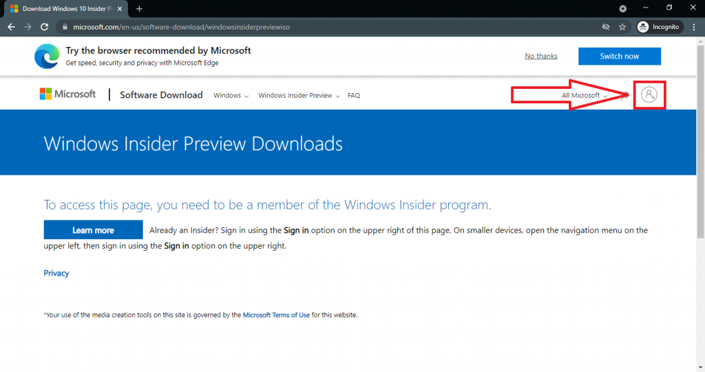 windows insider preview iso download