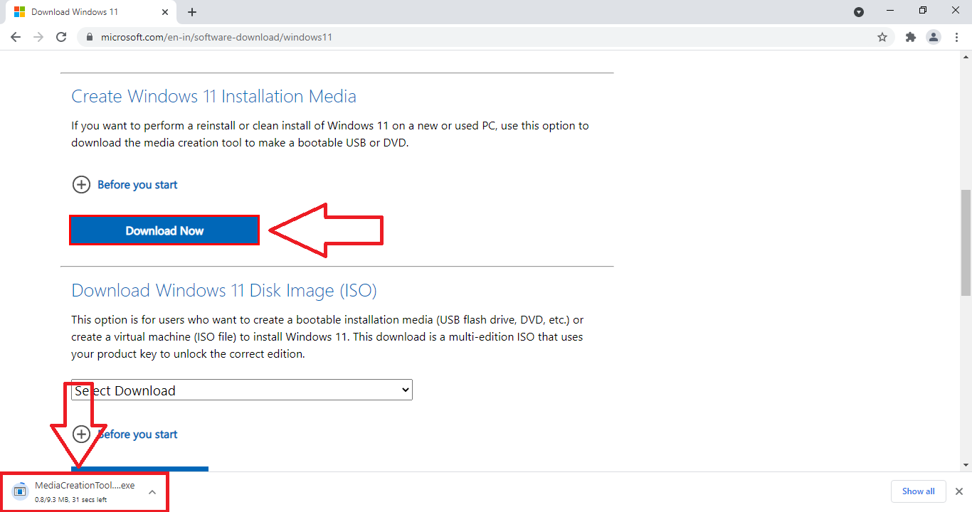 download windows 11 media creation tool