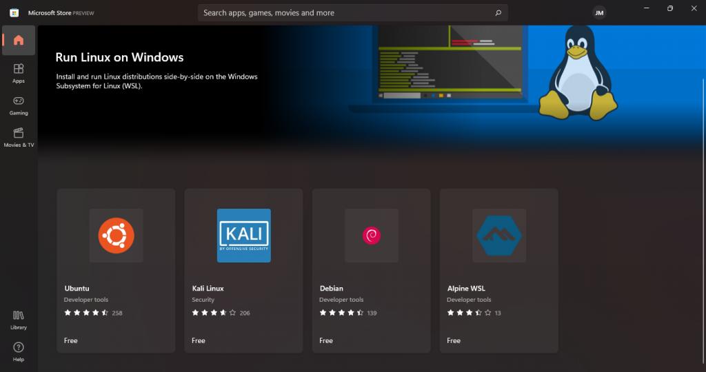 windows 11 linux microsoft store