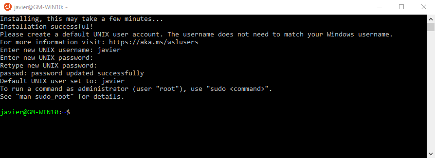 ubuntu windows 11 username and password