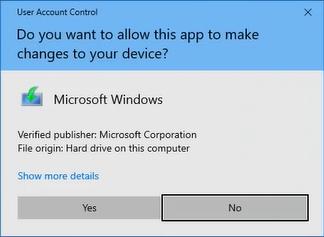 user account control microsoft windows