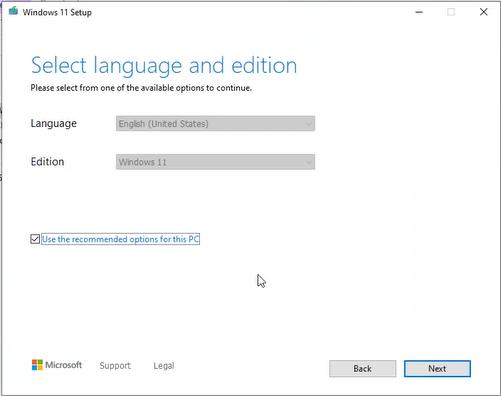 windows 11 choose language edition