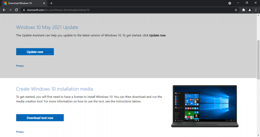 windows 11 download assistant media creation