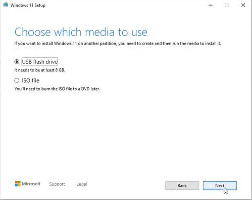 windows 11 installation media usb iso