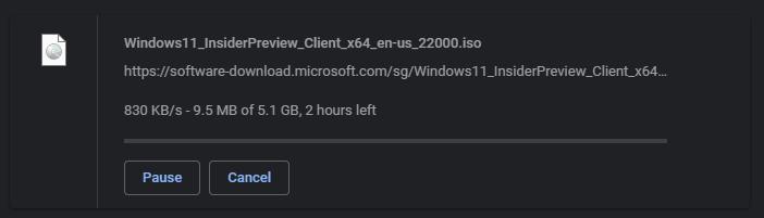 windows 11 iso size
