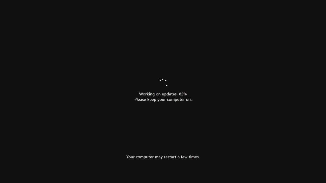working on windows 11 update