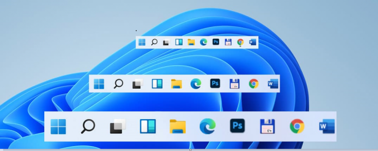 How to change the size of Windows 11 Taskbar