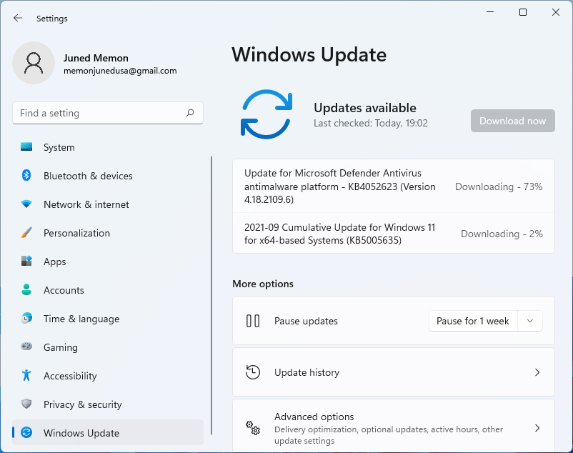 check for windows 11 updates