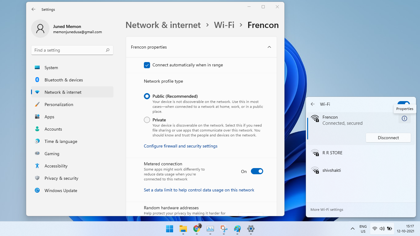 metered connection windows 11