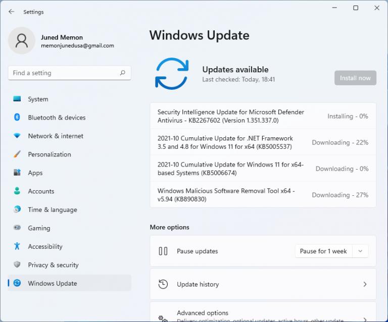 windows 11 KB5006674 22000.258