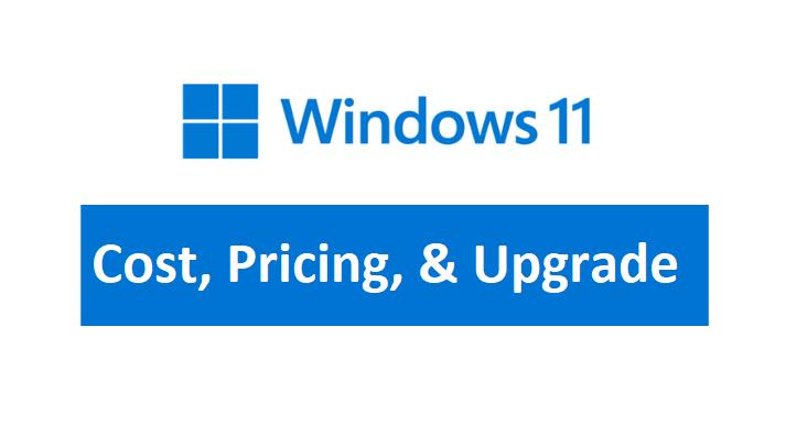 windows 11 cost price